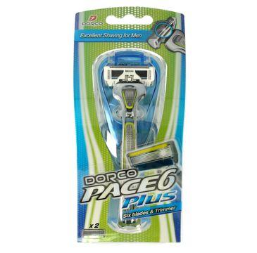 Dorco Pace 6 Plus Maszynka systemowa męska - 6 ostrzy + trymer 1 szt.