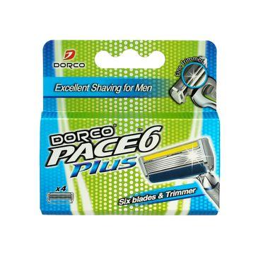 Dorco Pace 6 Plus wkłady do maszynki systemowej męskiej z trymerem - 6 ostrzy 1 op.- 4 szt.