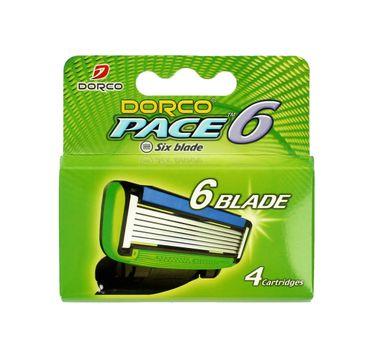 Dorco Pace 6 Wkłady do maszynki systemowej męskiej - 6 ostrzy 1 op.- 4 szt.