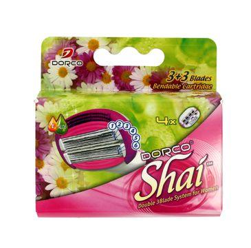 Dorco Shai 3+3 wkłady do maszynki systemowej damskiej 6 ostrzy 1 op 4 szt