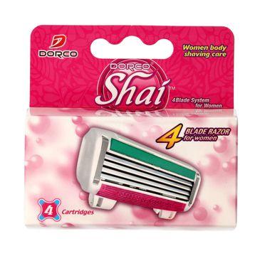 Dorco Shai wkłady do maszynki systemowej damskiej 4 ostrza 1 op 4 szt