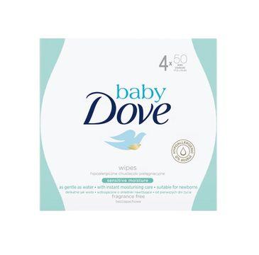 Dove Baby Sensitive Moisture Wipes nawilżane chusteczki oczyszczające 4x50szt