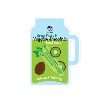 Dr. Mola – Green Fruits & Veggies Smoothie Sheet Mask maseczka w płachcie kojąco-nawilżająca (23 ml)