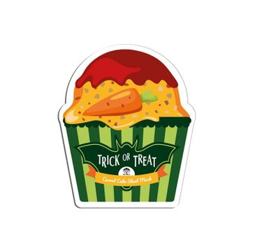 Dr. Mola – Trick Or Treat Carrot Cake Sheet Mask rozjaśniająca maseczka w płachcie z ekstraktem z marchwi (23 ml)