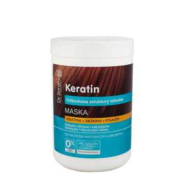 Dr. Sante Keratin Hair maska do włosów łamliwych i matowych odbudowująca 1000 ml