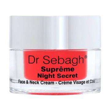 Dr Sebagh Supreme Night Secret Face & Neck Cream chronobiologiczny krem komórkowy na noc 50ml
