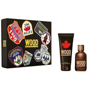 Dsquared2 Wood Pour Homme zestaw woda toaletowa spray 100ml + żel pod prysznic 150ml (1 szt.)
