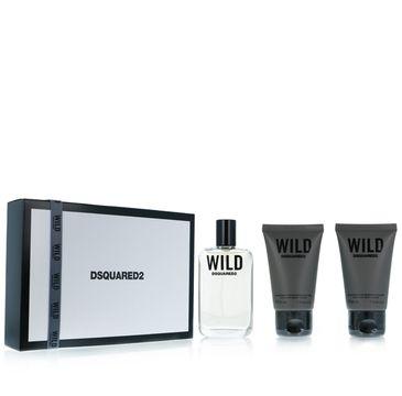 Dsquared Wild zestaw woda toaletowa spray 30ml + żel pod prysznic 2x30ml