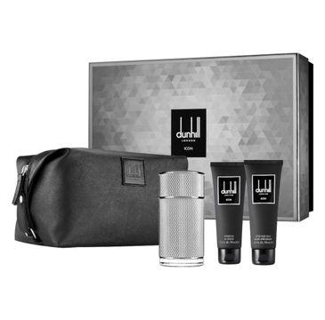 Dunhill Icon zestaw woda perfumowana spray 100ml + balsam po goleniu 90ml + żel pod prysznic 90ml + kosmetyczka