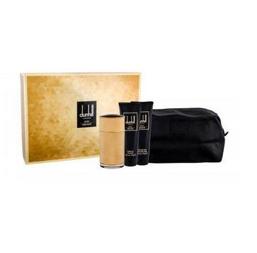 Dunhill London Icon Absolute For Men zestaw woda perfumowana spray 100ml + balsam po goleniu 90ml + żel pod prysznic 90ml + kosmetyczka