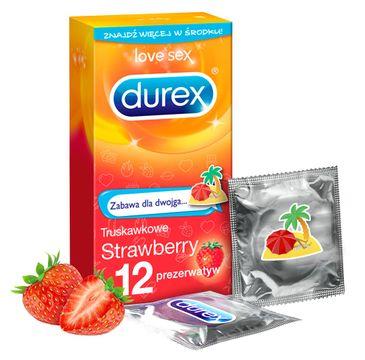 Durex Extra Safe prezerwatywy Strawberry Emoji (12 szt.)