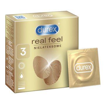 Durex Real Feel prezerwatywy bezlateksowe (3 szt.)