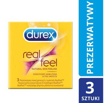 Durex Real Feel Ultra Smooth prezerwatywy 3 szt.