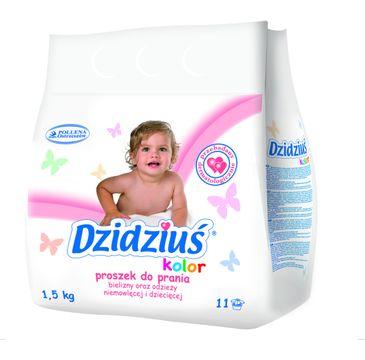 Dzidziuś proszek do prania bielizny odzieży niemowlęcej kolor 1.5 kg
