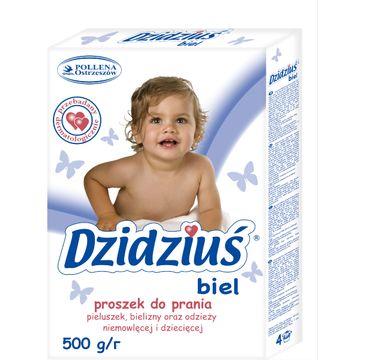 Dzidziuś proszek do prania pieluszek bielizny odzieży niemowlęcej biel 500 g