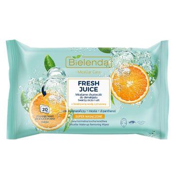 Bielenda – Fresh Juice chusteczki micelarne Pomarańcza do demakijażu twarzy, oczy i ust (20 szt.)