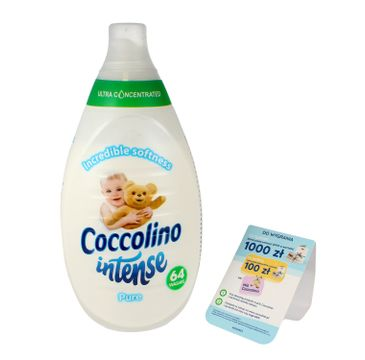 Coccolino Intense – płyn do płukania tkanin Pure (960 ml)