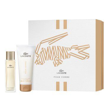 Lacoste – Pour Femme zestaw woda perfumowana spray 50ml + balsam do ciała 100ml (1 szt.)