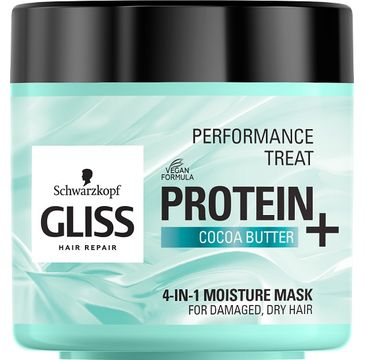 Gliss Kur – Performance Treat 4-in-1 Moisture Mask maska nawilżająca do włosów Protein + Cocoa Butter (400 ml)