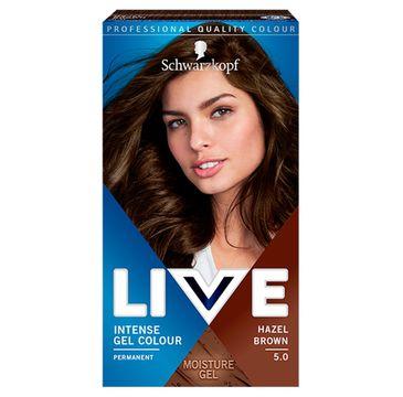 Schwarzkopf – Live Intense Gel Colour koloryzacja do włosów w żelu 5.0 Hazel Brown (1 szt.)