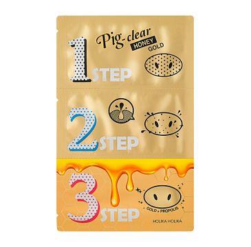 HOLIKA HOLIKA Pig-Clear Honey Gold zestaw plasterków oczyszczających z zaskórników 3szt