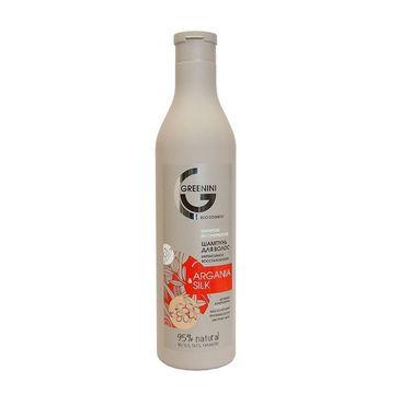 Greenini – Argania & Silk Shampoo odbudowujący szampon do włosów Argan i Jedwab (500 ml)