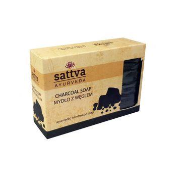 Sattva Body Soap indyjskie mydło glicerynowe z węglem Charcoal 125g