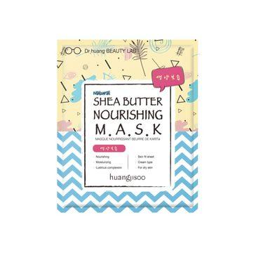 Huangjisoo Shea Butter Nourishing Sheet Mask – odżywczo-nawilżająca maska do twarzy w płachcie Masło Shea (1 szt.)