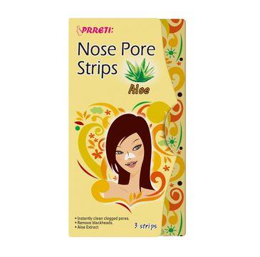 Prreti Nose Pore Strips – oczyszczające plastry na nos Aloes (3 szt.)