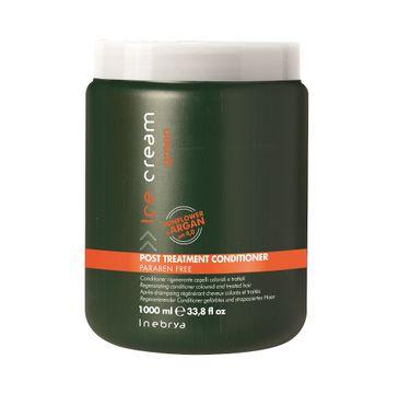 Inebrya Ice Cream Green Post-Treatment Conditioner – odżywka do włosów osłabionych i zniszczonych zabiegami (1000 ml)
