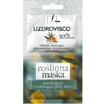 Uzdrovisco roślinna maska do twarzy nawilżająca i redukująca pory skóry Rokitnik i Koniczyna (10 ml)