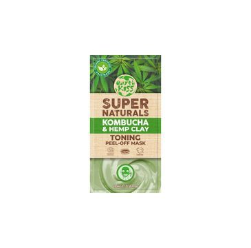 Earth Kiss Super Naturals Kombucha & Hemp Clay Toning Peel-Off Mask glinkowa tonizująca maska do twarzy (10 ml)