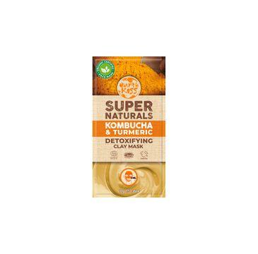 Earth Kiss Super Naturals Kombucha & Turmeric Detoxifying Clay Mask glinkowa maska detoksykująca do twarzy (10 g)