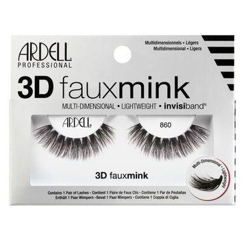 Ardell – 3D Faux Mink para sztucznych rzęs 860 Black ( 1 para)
