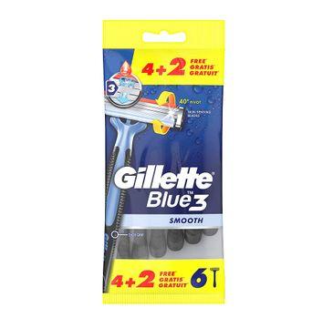 Gillette Blue 3 Smooth – jednorazowe maszynki do golenia dla mężczyzn (6 szt.)