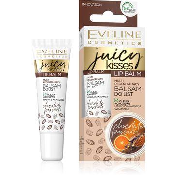 Eveline – Juicy Kisses Balsam do ust multi regenerujący Chocolate Passion (12 ml)