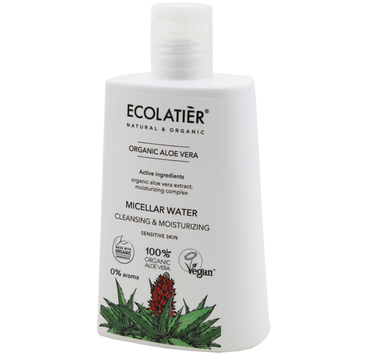 Ecolatier Organic Aloe Vera Woda micelarna do twarzy - cera wrażliwa (250 ml)