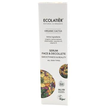 Ecolatier Organic Cactus serum wygładzające do twarzy i dekoltu każdy rodzaj cery (50 ml)