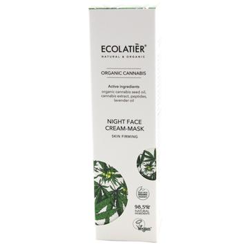 Ecolatier Organic Cannabis Krem-maska ujÄ™drniajÄ…ca do twarzy na noc - cera wiotka (50 ml)
