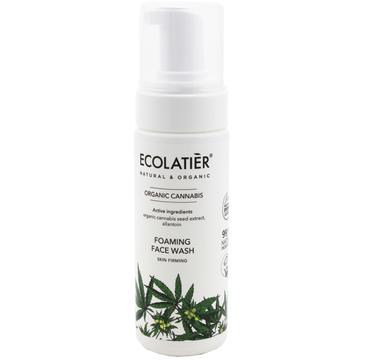 Ecolatier Organic Cannabis Pianka oczyszczająca do twarzy - cera wiotka (150 ml)