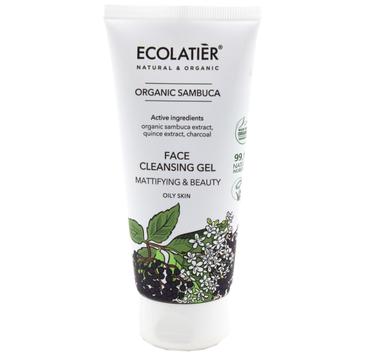 Ecolatier Organic Sambuca 偶el oczyszczaj膮co-matuj膮cy do twarzy (100 ml)