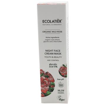 Ecolatier Organic Wild Rose Krem-maska do twarzy przeciwstarzeniowy na noc - cera dojrzała (50 ml)