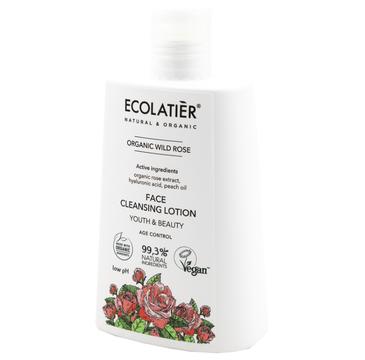 Ecolatier Organic Wild Rose Mleczko do twarzy oczyszczające - cera dojrzała (250 ml)
