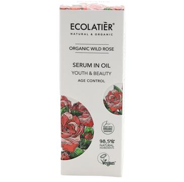 Ecolatier Organic Wild Rose Serum do twarzy przeciwstarzeniowe - cera dojrzała (50 ml)