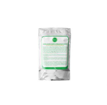 Ecocera Maska kosmetyczna z węglem aktywnym na bazie srebra i miedzi koloidalnej 50g