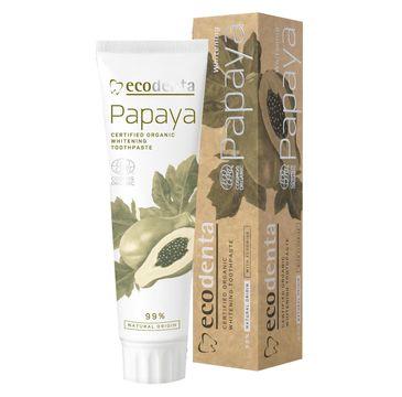 Ecodenta Organic Pasta do zębów wybielająca Papaya 100 ml