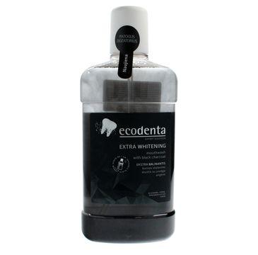 Ecodenta Płyn do płukania jamy ustnej z czarnym węglem wybielający 500 ml
