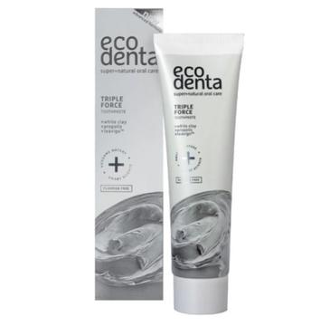 Ecodenta Expert Line Pasta do zębów o potrójnym działaniu z białą glinką, propolisem i teavigo (75 ml)