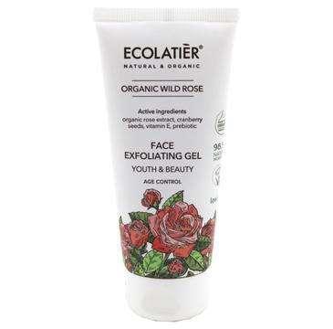 Ecolatier Organic Wild Rose 偶el do mycia twarzy z艂uszczaj膮cy (100 ml)