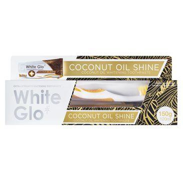 White Glo – Coconut Oil Shine wybielająca pasta do zębów 120ml + szczoteczka do zębów (1 szt.)